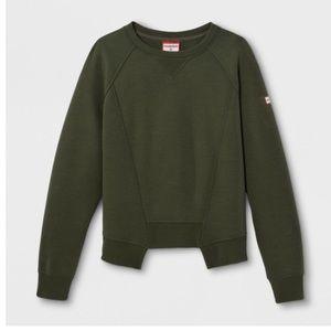 Hunter for target deconstructed sweatshirt olive M